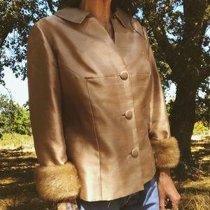 Vintage 1960's Fur Trim Jacket